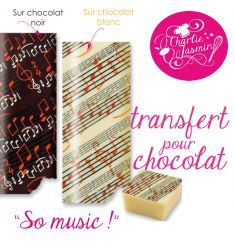 So music  - Feuille de transfert pour chocolat