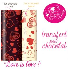Love IS Love  - Feuille de transfert pour chocolat